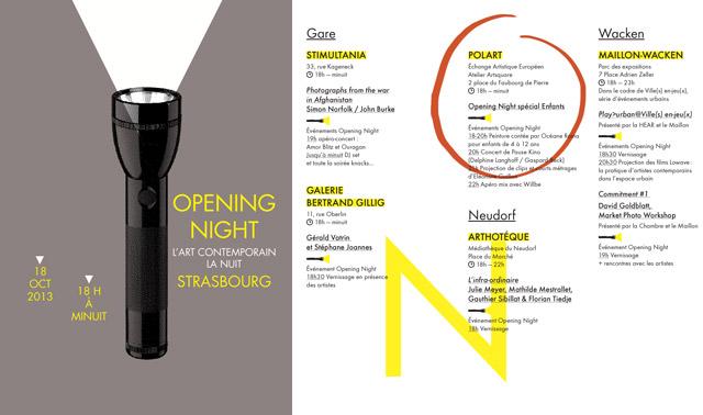OPENING NIGHT 2013 SPÉCIAL ENFANTS !